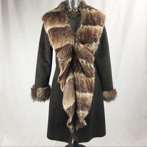 Kenar Faux Fur Brown Coat